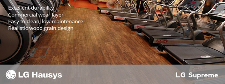 LG Supreme Flooring in Gym